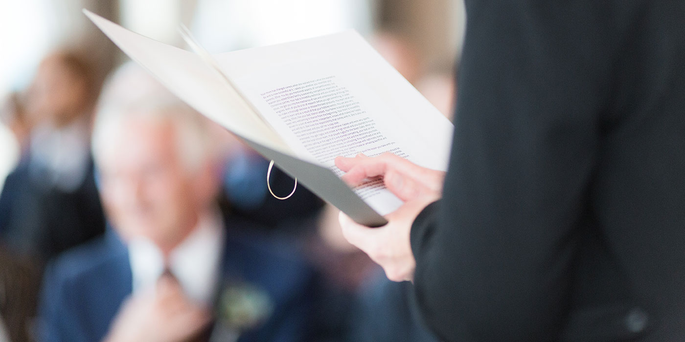 Speechen, speech houden - Pauline Suidgeest Ceremoniespreker